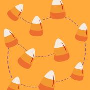 stration with candy corn