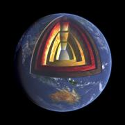 Image from Solar Walk Lite of the Earth and it's internal structure