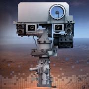 Artist illustration of Mars Rover mast head