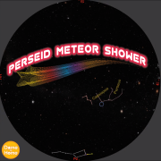Still image of the radiant point for the Perseid Meteor shower