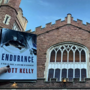 Photo of Scott Kelly's book Endurance at the entrance to Macky