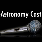 Astronomy Cast title microphone with earth in it