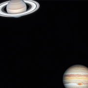 Photographs of Saturn and Jupiter