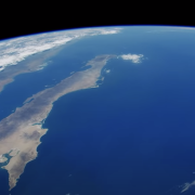 Screen shot from video of ocean from ISS