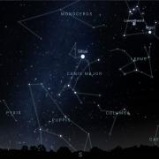 Sirius graphic and Canis Major constellation from Stellarium