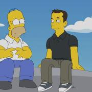 The Musk Who Fell To Earth still image from episode with Homer and Elon Musk