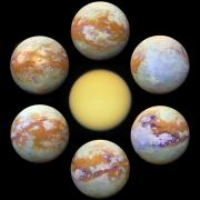Photos of Titan from the Cassini-Huygens spacecraft