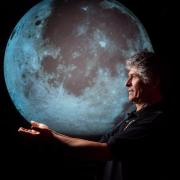 Photo of Tito Salas with the Moon