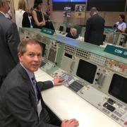 John Keller at Console at NASA Johnson Space Center