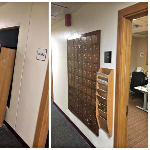 Mailboxes have been relocated from room C103 to C119