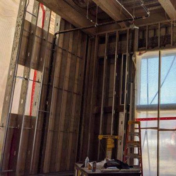 interior walls of business remodel level 1 north