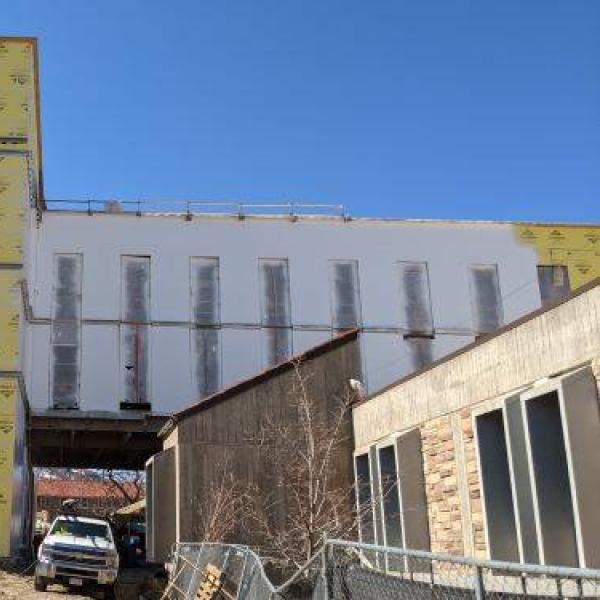 engineering auditorium north expansion exterior