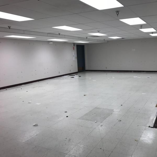 The percussion instruction room following its relocation to Carlson