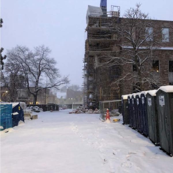 Ramaley northwest exterior construction zone