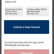 facilities safety hazard app