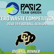 Pac 12 team green award logo