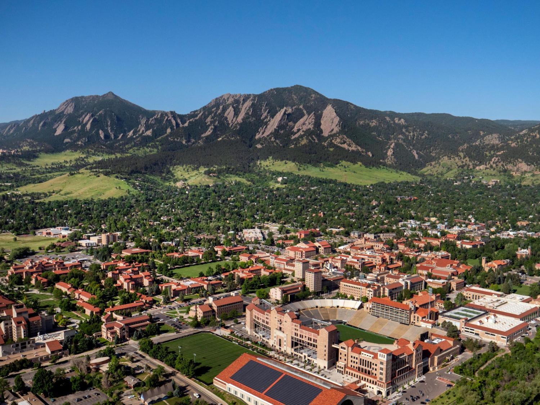Aerial View of CU Campus