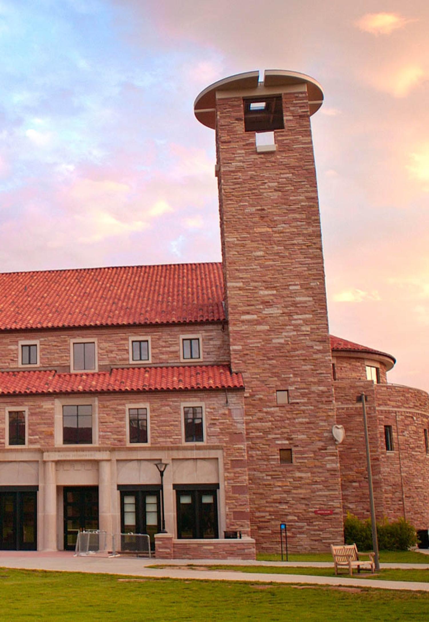 Sunrise at Eaton Humanities building