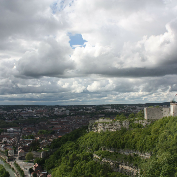 Bensancon France on a cloudy day