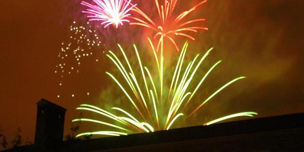 Fireworks over Norlin