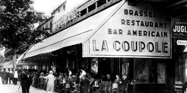 La Coupole Cafe black and white