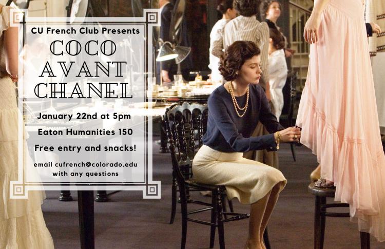 Coco Avant Chanel poster