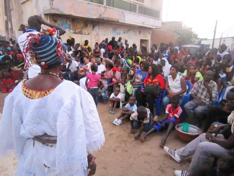People gathering in Senegal