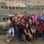 Student group in the Roman Coliseum