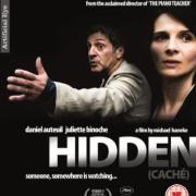 image of Daniel Auteuil and Juliette Binoche (actors) on the movie cover