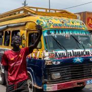 Dakar street and bus