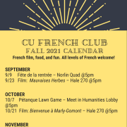 Fall 2021 French Club Poster