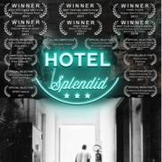 Picture of the film cover for Hotel Splendid which shows a black man in a hallway