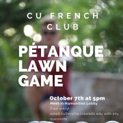 petanque lawn game poster