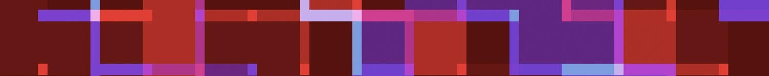 red, purple, and pink banner