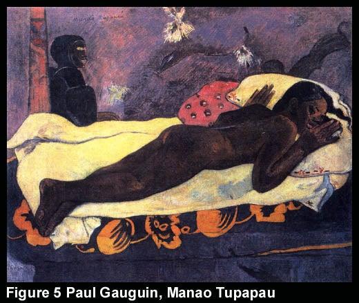 Figure 5 Paul Gauguin, Manao Tupapau
