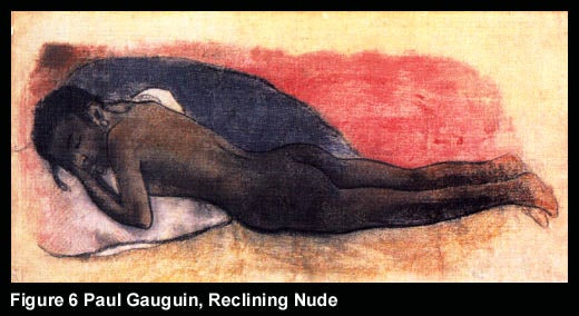 Figure 6 Paul Gauguin, Reclining Nude