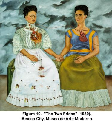 """The Two Fridas"" (1939). Mexico City, Museo de Arte Moderno."