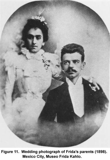 Wedding photograph of Frida's parents (1898). Mexico City, Museo Frida Kahlo.