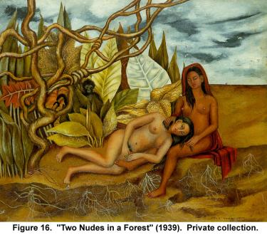 """Two Nudes in a Forest"" (1939). Private collection."