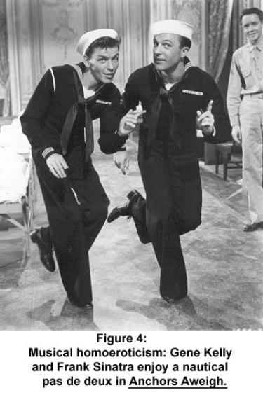 Gene Kelly and Frank Sinatra enjoy a nautical pas de deux in Anchors Aweigh.