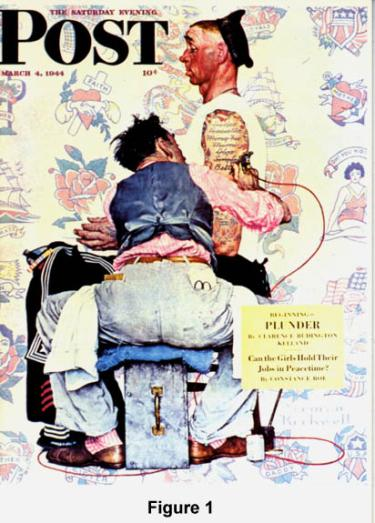 Norman Rockwell illustration on cover of Saturday Evening Post, March 4, 1944