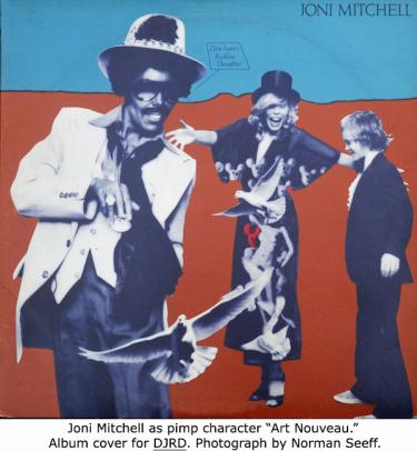 Joni Mitchell as Art Nouveau
