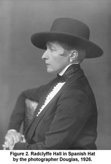 Radclyffe Hall in Spanish Hat by the photographer Douglas, 1926.
