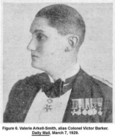 Valerie Arkell-Smith, alias Colonel Victor Barker. Daily Mail, March 7, 1929.