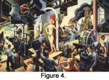 Figure 4. A model standing in an art room
