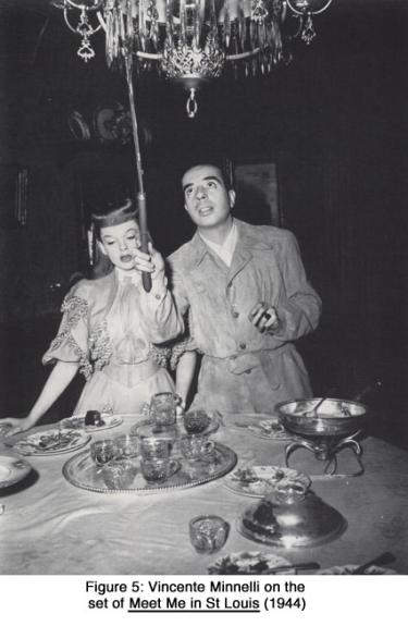 Vincente Minnelli on the set of Meet Me in St. Louis (1944)