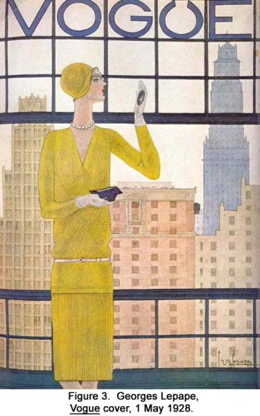 Georges Lepape, Vogue cover, 1 May 1928