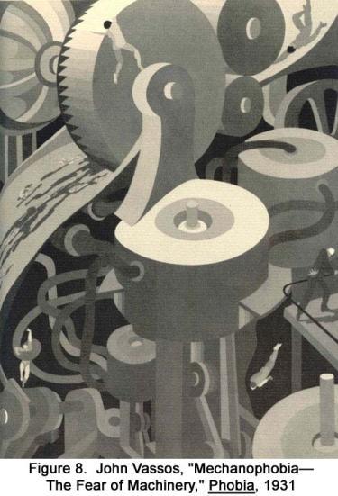 "John Vassos, ""Mechanophobia–The Fear of Machinery,"" Phobia, 1931"