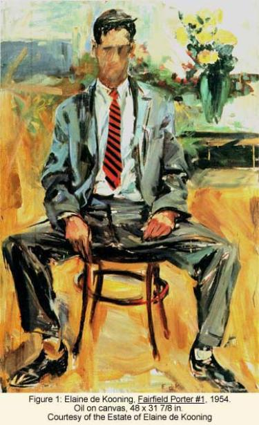 Elaine de Kooning, Fairfiled Porter #1, 1954 Oil on canvas, 48 x 31 7/8 in., Courtesy of the Estate of Elaine de Kooning