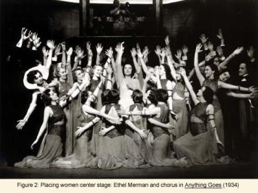 Ethel Merman and chorus in Anything Goes (1934)